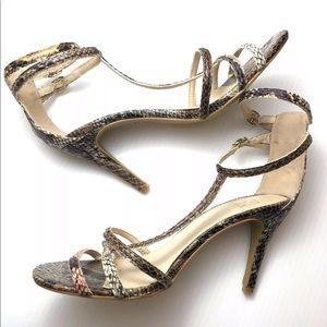 NY&C Size 8 Heels Animal Snake Skin Pumps Strappy